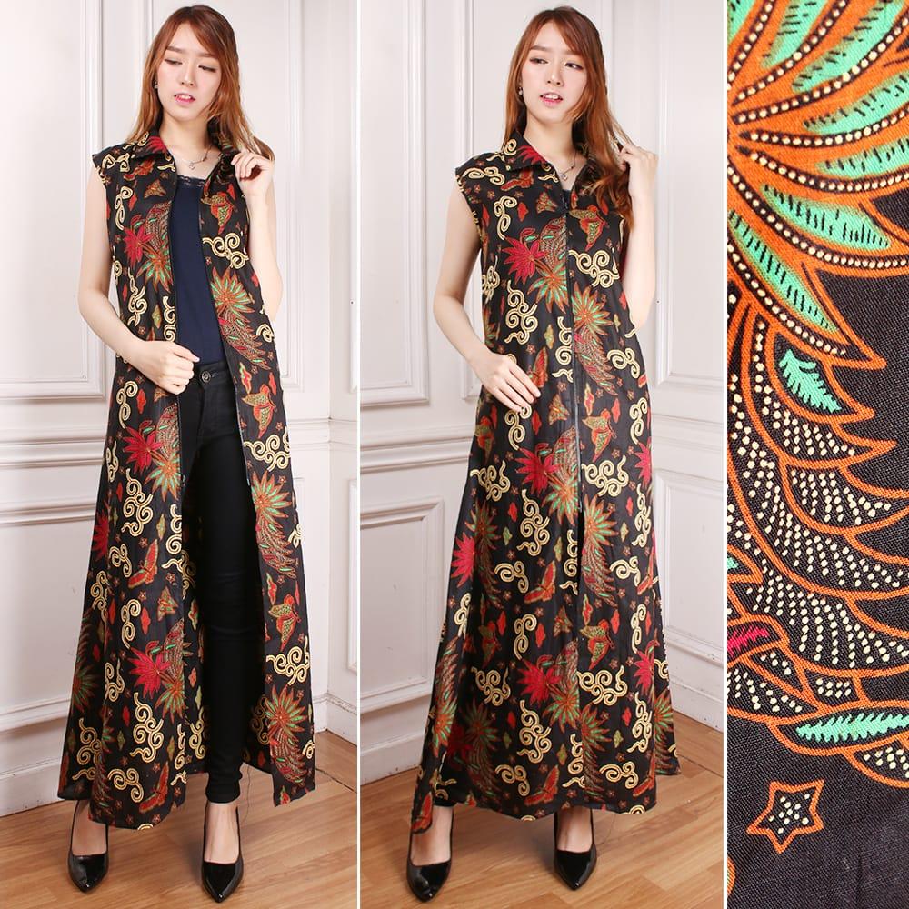 Gamis blazer batik