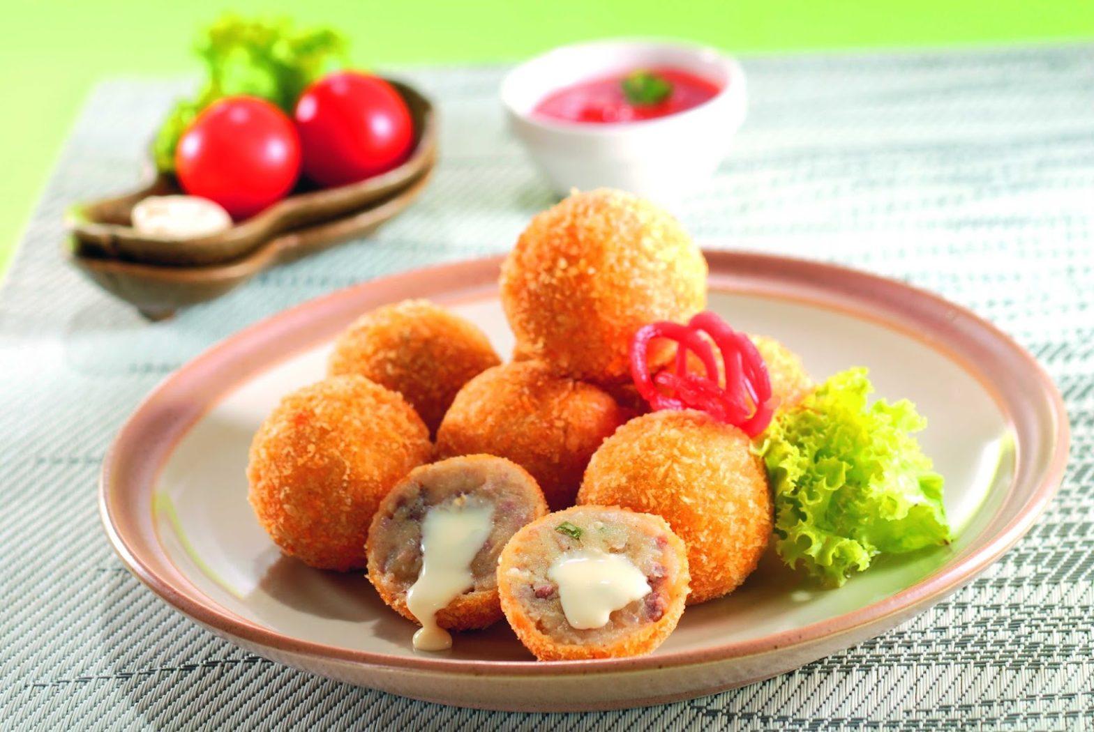 cara membuat kentang isi ayan jamur