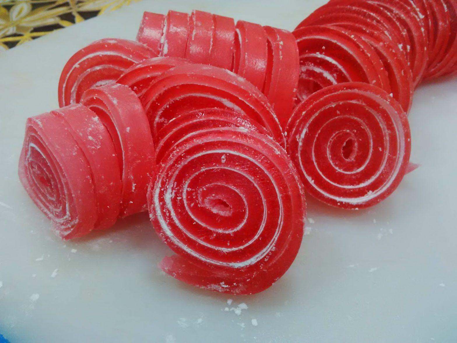 cara membuat permen jelly roll