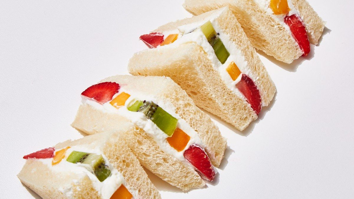 cara membuat sandwich buah