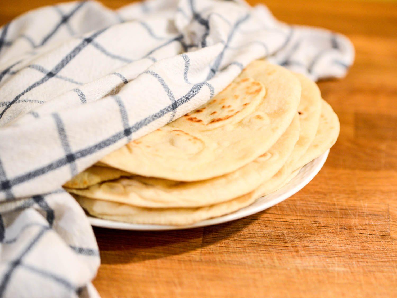 cara membuat kulit kebab tortilla