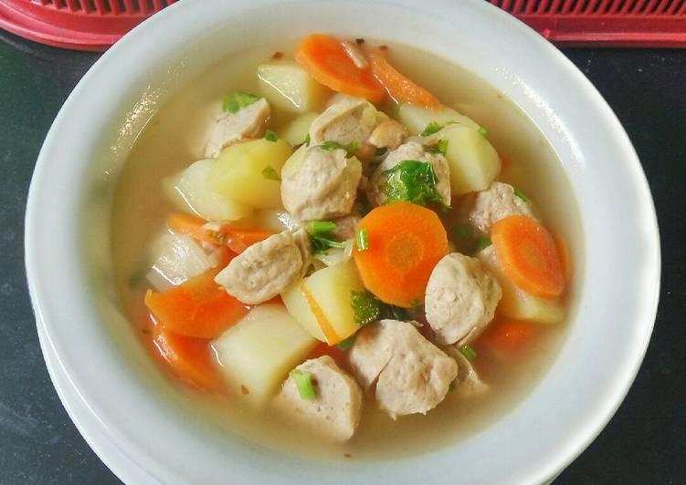 cara membuat sop bakso