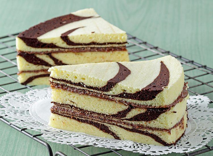 resep kue cake zebra