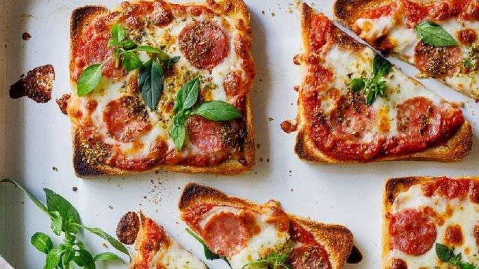 resep roti pizza mini