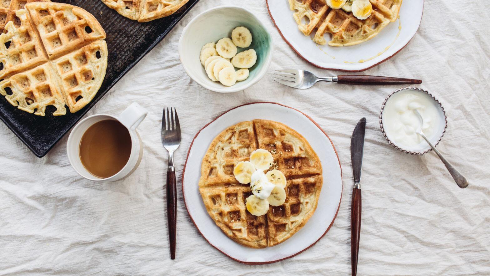 cara membuat waffle tanpa cetakan - belgian waffle