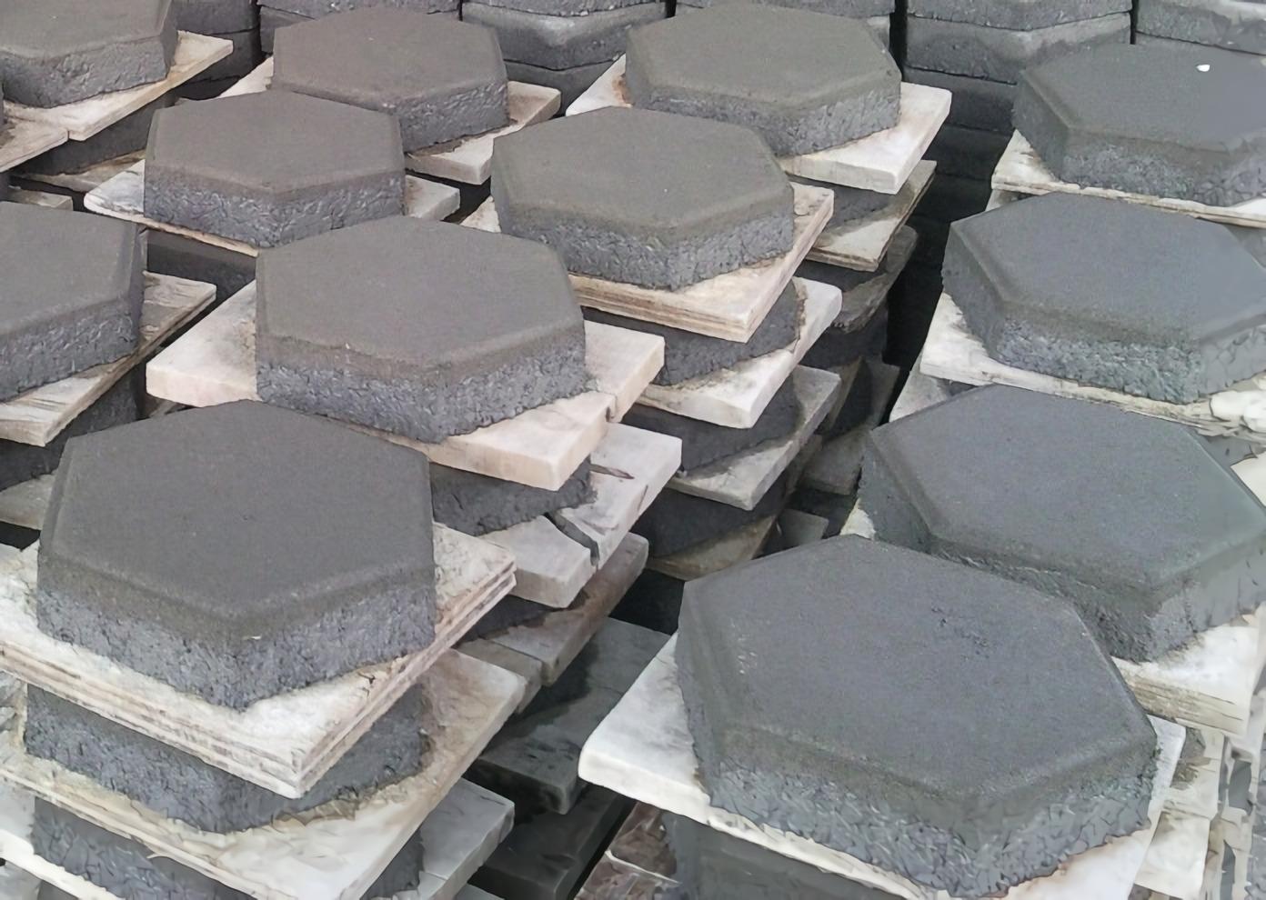 cara membuat adonan paving block - paving mentah