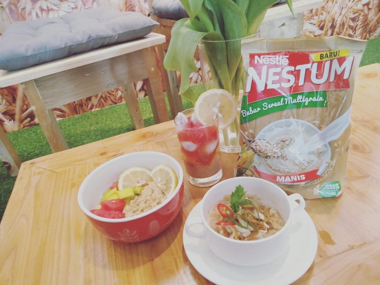 cara membuat bubur nestum sereal