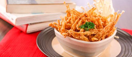 resep jamur crispy enoki